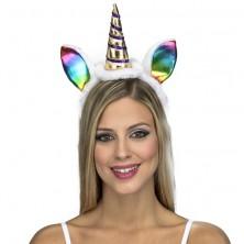 Čelenka s ocasem Jednorožec, duhové uši