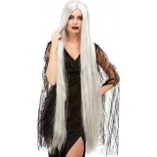 Paruka Halloween šedá 120 cm