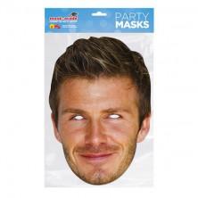 Papírová maska David Beckham