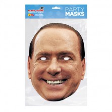 Papírová maska Silvio Berlusconi
