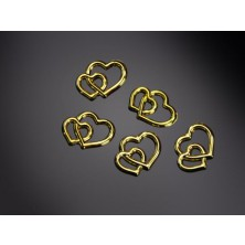 Ozdoba Zlatá srdíčka 10 mm